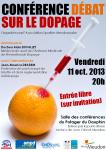 Conférence débat sur dopage 11 octobre 2013
