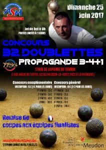 Concours 32 doublette de boule lyonnaise, le 25 juin 2017