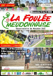 28e édition de la Foulée Meudonnaise, dimanche 8 avril 2018