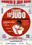Affiche tournoi judo 2 juin 2018