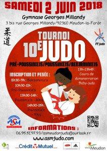 Tournoi de judo, le 2 juin 2018