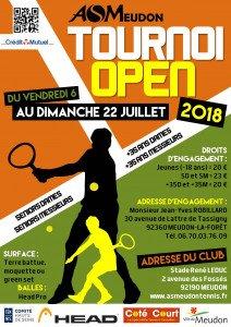 Tournoi Open de tennis, du 6 au 22 juillet 2018
