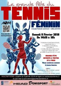 Venez nombreux soutenir le tennis féminin, le 9 février 2019