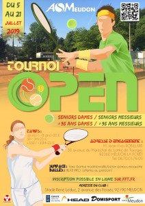 Tournoi Open de tennis, du 5 au 21 juillet 2019