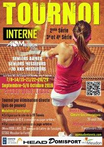 Tournoi Interne 2nde/3e/4e Série du 7 septembre au 6 octobre 2019